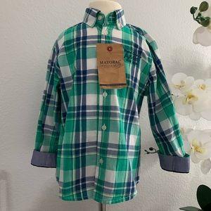 NEW ❗️Mayoral pleated Long Sleeve  Shirt